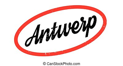 Antwerp rubber stamp. Grunge design with dust scratches. ...