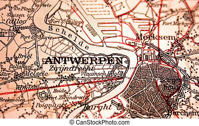 Antwerpen, Belgium, the way we looked at it in 1949
