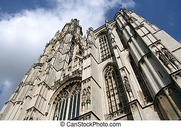 Antwerpen - Cathedral of Our Lady in Antwerp, Belgium...