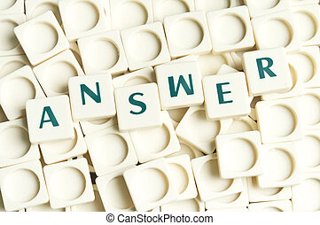 antwoord, woord, gemaakt, door, leter, stukken