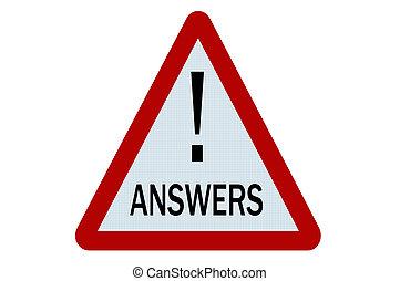antwoorden, meldingsbord