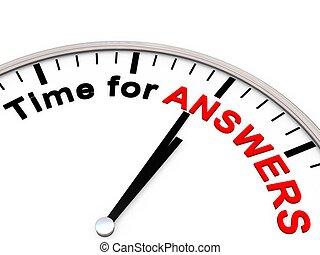 antwoorden, tijd