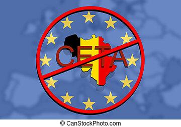 Anty ceta comprehensive economic and trade agreement on picture anty ceta comprehensive economic and trade agreement on euro union background belgium map platinumwayz