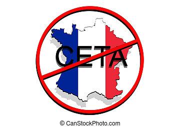 Anty ceta comprehensive economic and trade agreement on picture anty ceta comprehensive economic and trade agreement on white background france map platinumwayz