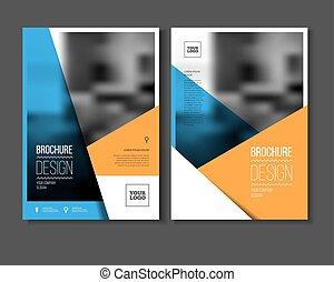 anual, ilustración, vector, informe
