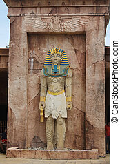 anubis, 像, アイドル, エジプト人