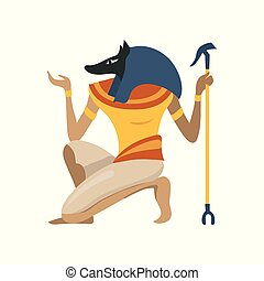 Anubis, an ancient Egyptian god, symbol of traditional...