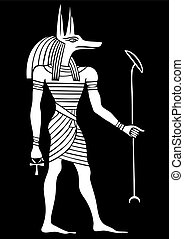 Anubis - God of ancient Egypt - God of funerals, death, the...