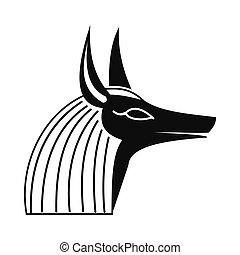 Anubis head icon, simple style