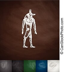 Anubis icon.Chalkboard Design
