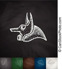 Anubis icon.Chalkboard Design
