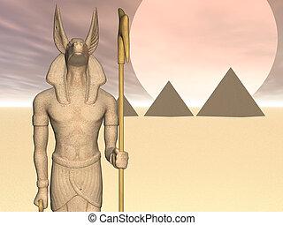 Anubis of the Pyrami - Statue of Egyptian god Anubis