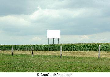 anunciando, billboard, ligado, a, auto-estrada