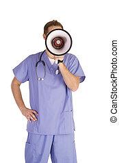 anuncio, médico