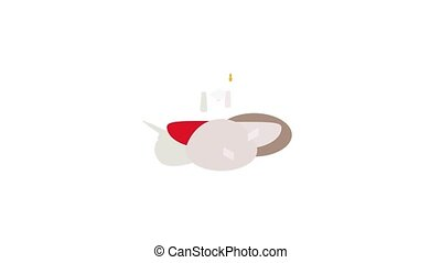Anuradhapura ruin, historical capital city of the Sinhalese Buddhist state icon animation isometric best object on white backgound