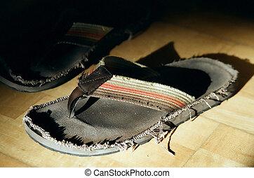 använd, flip-flops