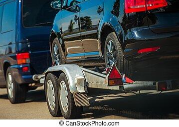 använda bilar, importerar, in, eu