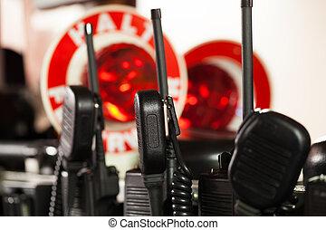 anvendelse, firefighters, radioer