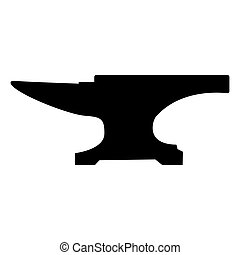 Anvil block black color icon .