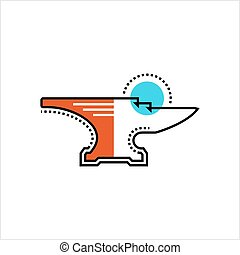 Anvil Icon Design Vector Art Illustration