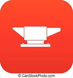 Anvil icon digital red