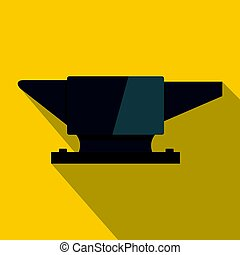 Anvil. icon, flat style