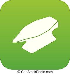 Anvil icon green vector