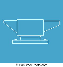 Anvil icon, outline style