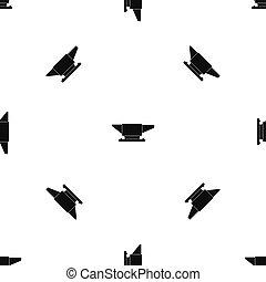 Anvil pattern seamless black