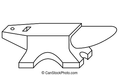 Anvil tool contour icon - Illustration of the contour anvil...