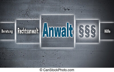 Anwalt (in german Lawyer, help; advice) touchscreen concept...