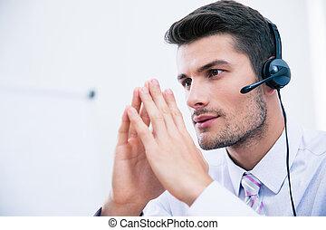 anwender, koptelefoon, mannelijke