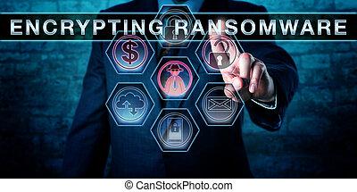 anwender, malware, aandoenlijk, encrypting, ransomware