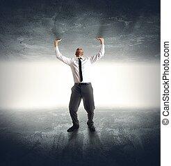 Anxiety businessman