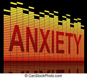 Anxiety concept. - Illustration depicting equilizer levels...