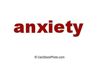 Anxiety mental health symbol