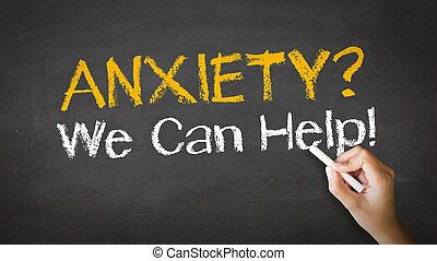 Anxiety we can help Chalk Illustration - A person drawing...