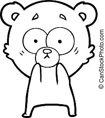 anxious bear cartoon
