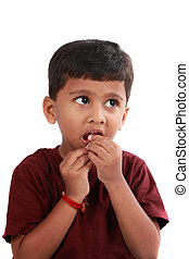 Anxious Boy - A portrait of an anxious Indian boy looking ...