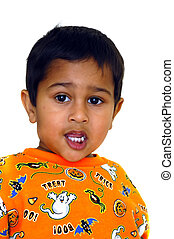 Anxious child - A cute anxious indian kid looking eagerly