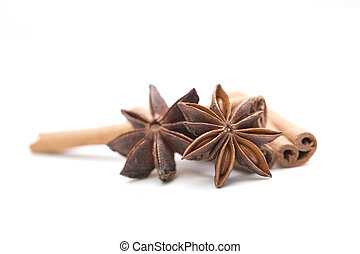 anyż, gwiazda, cynamonowe pałki