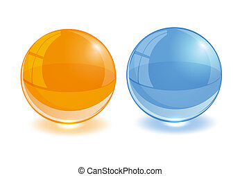 Any color glass balls set. EPS10