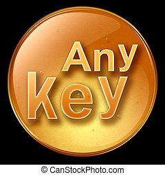 Any Key icon, isolated on black background.