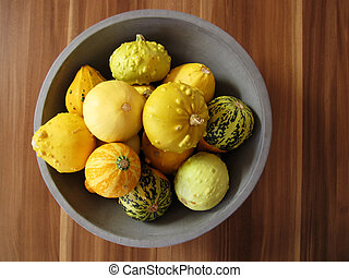 marrows - any marrows as still life on a wooden table