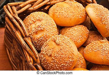 any small baked bread