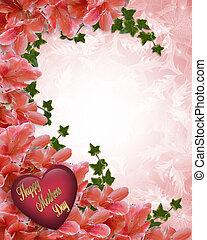 anya nap, floral határ, azaleas