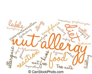 anyacsavar, felhő, allergia, szó