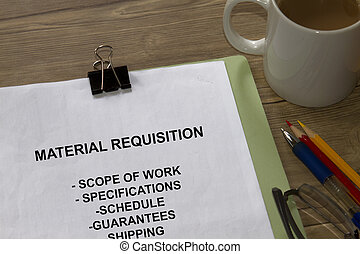 anyag, requisition