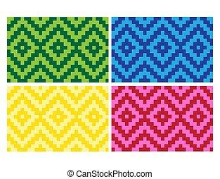 (anyaman), coloré, 18, ethnique, plat, texture, décoratif, tissé, fond, beau