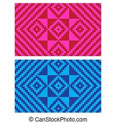 (anyaman), coloré, ethnique, texture, plat, décoratif, 11, tissé, fond, beau